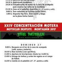 XXIV Concentración nacional motera Villa de Montalbán