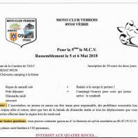 Rassemblement moto club Vebrois