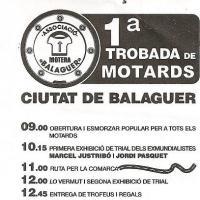 I Trobada Motards Ciutat de Balaguer 2009
