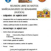 Reunión libre de motos y mañoalmuerzo Benabarre
