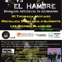 XI Trobada motard Les Borges Blanques y moteros contra el hambre